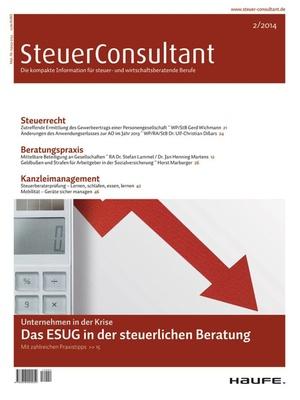 SteuerConsultant Ausgabe 2/2014   SteuerConsultant