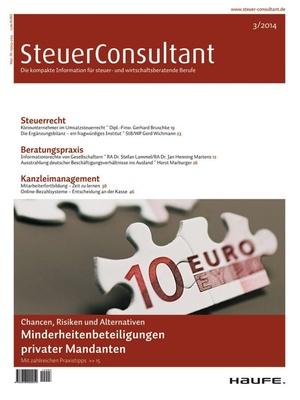 SteuerConsultant Ausgabe 3/2014 | SteuerConsultant