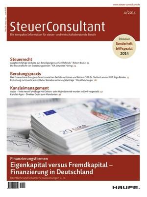 SteuerConsultant Ausgabe 4/2014 | SteuerConsultant