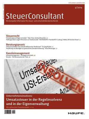 SteuerConsultant Ausgabe 05/2014 | SteuerConsultant