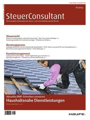 SteuerConsultant Ausgabe 06/2014   SteuerConsultant