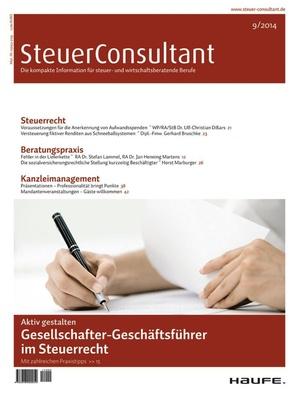 SteuerConsultant Ausgabe 09/2014 | SteuerConsultant