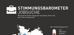 Infografik: Wo Jobs gesucht werden, und wo nicht