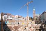 Stralsund Rathausplatz mit Baustelle