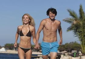 Strand Paar Urlaub