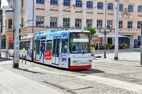 Deutschland, Sachsen, Zwickau, Straßenbahn