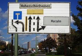Straßenschild Berlin Hohenschönhausen Marzahn