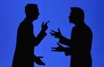 Streitende Männer Schatten