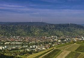 Stuttgart Kessellage Stadtansicht