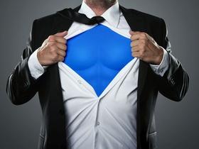 Superman mit Muskeln