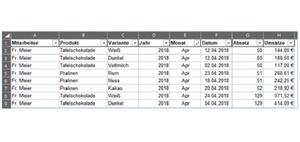 Excel: Neue Formel FILTER in Tabellen anwenden