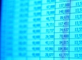 Tabelle mit vielen Zahlen