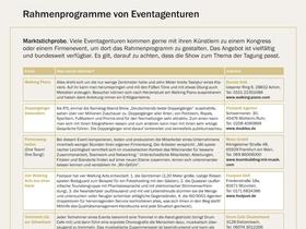 Rahmenprogramme von Eventagenturen