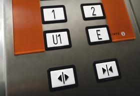 Tastatur in einem Aufzug