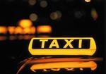 Taxi-Zeichen, beleuchtet, nachts
