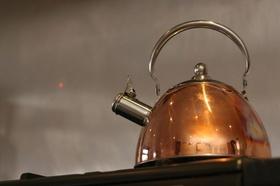 Teekessel kochend