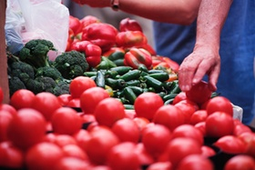 Tomate Marktstand
