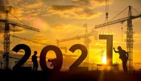 Trendwende Jahreswechsel 2021 Baustelle Wohnungsbau
