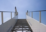 Treppe für ein Flugzeug
