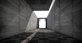 Tunnel Architektur Licht Beton