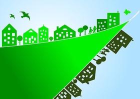 Umweltbewusstsein Gebäudesanierung grün
