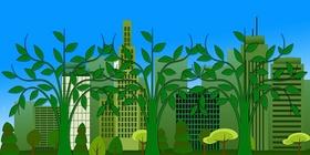 Umweltschutz, grüne Stadt