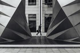 Unternehmensgebäude Geschäftsmann