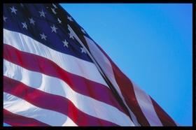 USA Flagge weht im Wind