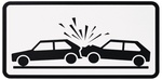 Verkehrsschild, Zusatzschild Auffahrunfaelle