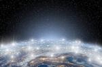 Vernetzte Welt mit Weltall