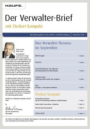 Der Verwalterbrief 09/2014   Verwalter-Brief