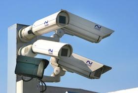 Videoüberwachung im Freien durch Kameras