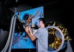 Virtuelle Realität, Ingenieur bei der Entwicklung eines Roboterarms