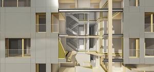 Hybridhochhaus Skaio erhält Nachhaltigkeitspreis Architektur
