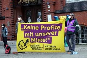 Volksentscheid Deutsche Wohnen & Co. enteignen Transparent