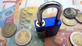 Vorhängeschloss auf Euros