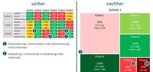 Visualisierung für maximierte Informationsqualität