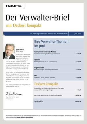 Der Verwalter-Brief 6/2010 | Verwalter-Brief