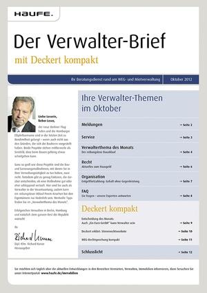 Der Verwalter-Brief Ausgabe 10/2012 | Verwalter-Brief