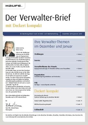 Der Verwalterbrief 12/2014+01/2015 | Verwalter-Brief