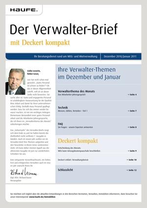 Der Verwalter-Brief Ausgabe 12/2010   Verwalter-Brief