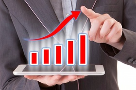 Wachstum Statistik wachsende Kurve Gewinn