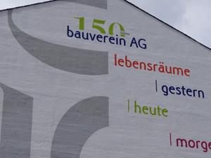 Wandbemalung zum Jubiläumsjahr der Bauverein AG
