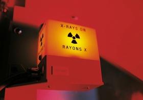 Warnanzeige x-rays on