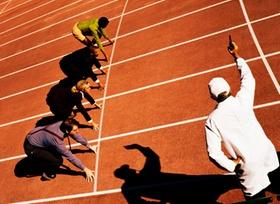 Wettbewerb Wettrennen Startschuss