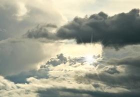 Wetter trübe Aussicht Sonne Wolken