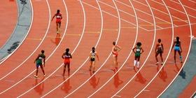 Wettrennen vor dem Start