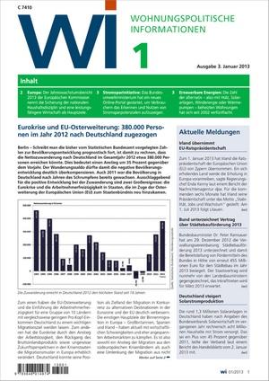 Wohnungspolitische Informationen Ausgabe 01/2013   Wohnungspolitische Information