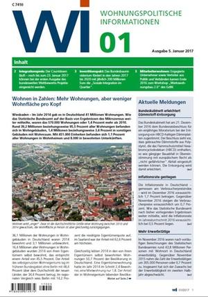 Wohnungspolitische Informationen 1/2017 gdw   Wohnungspolitische Information