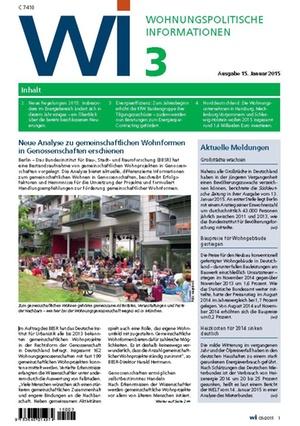 Wohnungspolitische Informationen 03/2015 | Wohnungspolitische Information